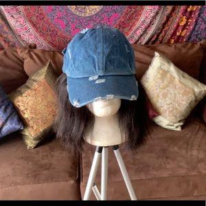 Accessories - Distressed Denim Hat